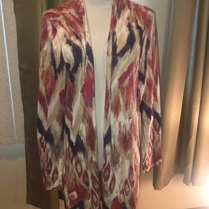 Chico's Cardigan Sweater 2 12 Sweater Red Brown